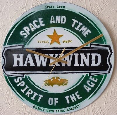 HAWKWIND inspiredrecord wall clock ,JESUS AND MARY CHAIN,THE DOORS.FRANK ZAPPA.