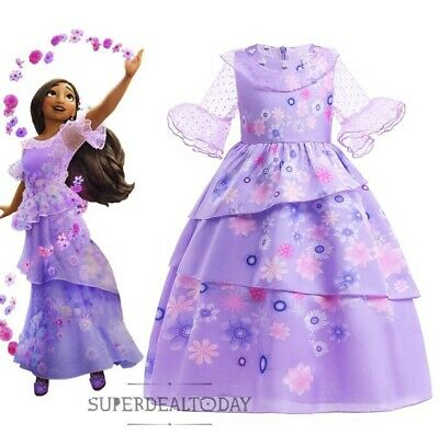Clearance! Girls Frozen Elsa Queen Birthday Costume Party Dress Size 3-8Years