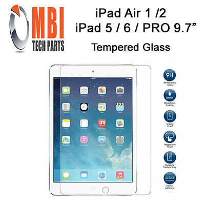 New iPad 5/6 Tempered Glass 9H Screen Protector for iPad Air 1/2 iPad Pro 9.7