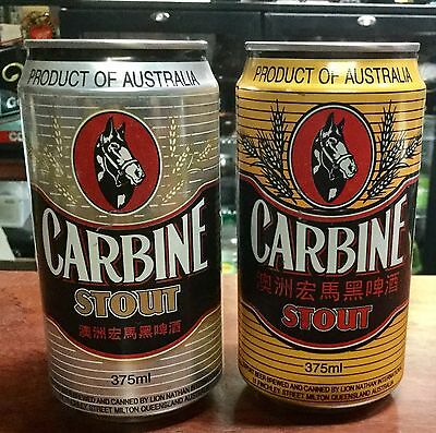 Carbine Stout. 375ml. Export.Collector Beer Cans x 2