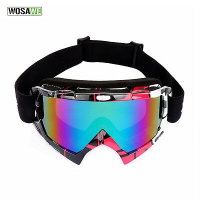 Eye Protection Eyewear Safety Goggles Snow Skiing Glasses Windproof Sports Red
