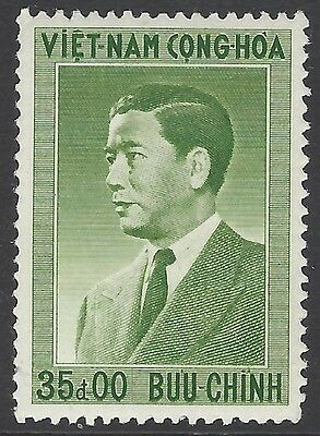 VIETNAM SOUTH 1956 35p green Pres. Ngo Dinh Diem, unmounted mint MNH, SG#S24