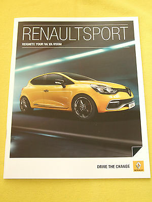 Renault Sport Clio Megane paper brochure sales catalogue April 2013 MINT