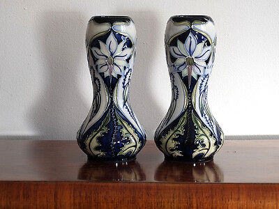 2 Exquisite 1st quality Moorcroft vases by Rachel Bishop, signed Limited Edition