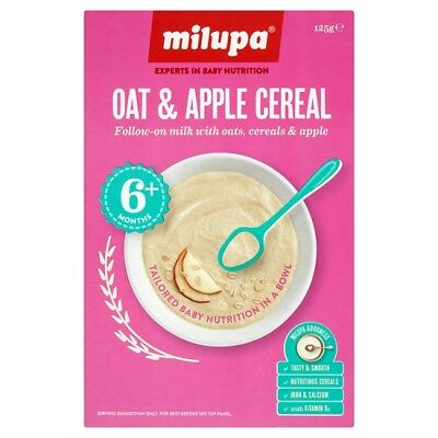 Milupa Breakfast Oat & Apple Cereal 6 Months Plus 125 Grams