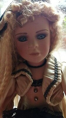 Beautiful vintage  porcelain doll  18 inches