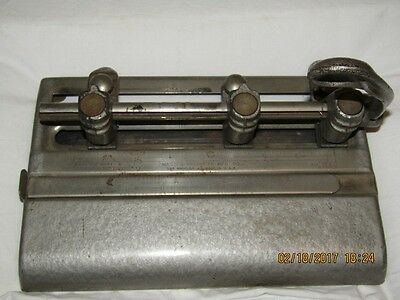 Vintage 3 Hole Paper Punch Master Products Series 1000 Heavy Duty Adjustable