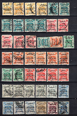 Palestine 1921-1922 Selection Of Used Stamps Pmk Interest