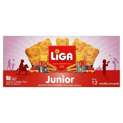 Liga Junior Biscuits for Children with added calcium 175 Grams 12m+