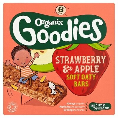 Organix 12 Months Plus Strawberry And Apple Cereal Bars 6X30g