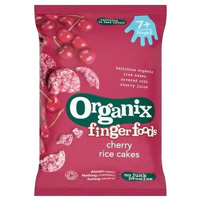 2 x Organix 7 Months Plus Cherry Rice Cakes 50 Grams