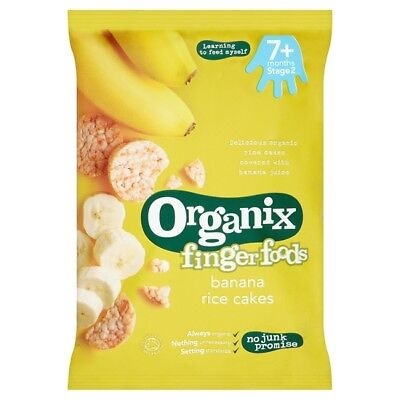2 x Organix 7 Months Plus Banana Rice Cakes 50 Grams