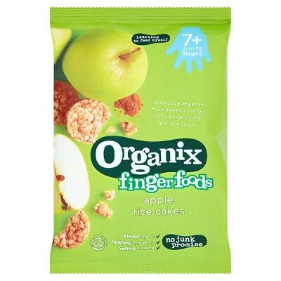 2 x Organix 7 Months Plus Apple Rice Cakes 50 Grams