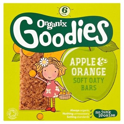 Organix 12 Months Apple And Orange Soft Cereal Bar 12X30g