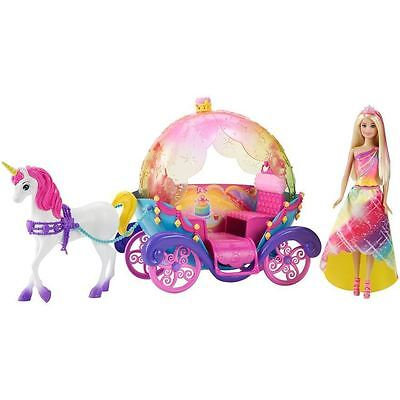New Barbie Dreamtopia Cove Princess Horse And Carriage And Doll Gift Set Unicorn