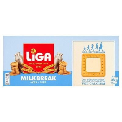 Liga Milk Break Wheat Biscuits with Milk Filling 245 Grams 4m+