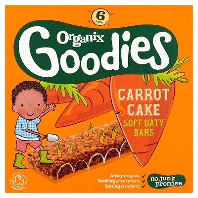 Organix 12 Months Plus Goodies Carrot Cake Bars 6 X 30 Grams