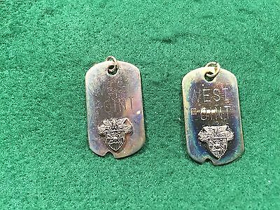 Lot of 2 Vintage USMA Military Academy at West Point Dogtag Charms