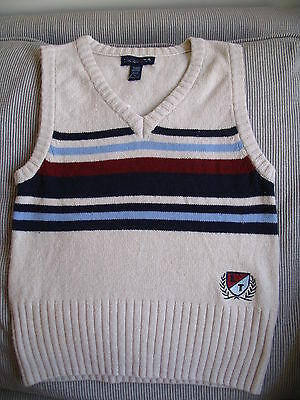 LIMITED TOO Beige V-Neck Pullover Sweater Vest sz M(12) NWT