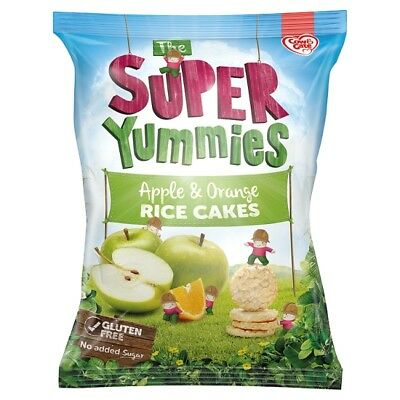 Super Yummies Apple And Orange Rice Cakes By Cow & Gate 40 Grams x 2 packs