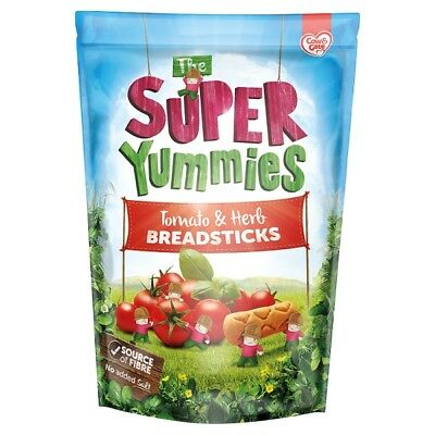 Cow & Gate Super Yummies Tomato / Herb Breadsticks 100 Grams 12+ months