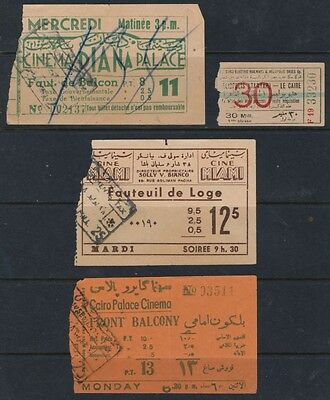 Cine Tickets And Used Tickets From Egypt And Electric Railway