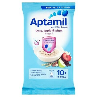 Aptamil Oats Apple And Plum Muesli 275G 10 Month Plus