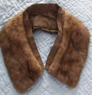 Set of 2 VINTAGE Genuine Fur Collars in Excellent Condition