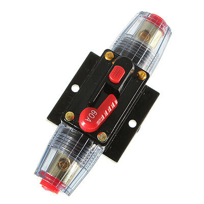 Auto 60A Car Audio Inline Circuit Breaker Fuse Kits for DC12V Protection