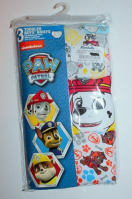 Boys Underwear 4T Paw Patrol Toddler Boys Briefs 3 pcs New in Package