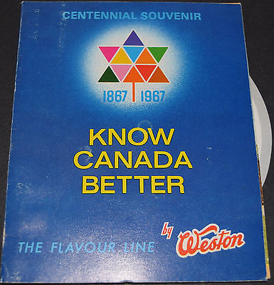 1967 Weston Biscuits and Candies Know Canada Better Centennial Souvenir