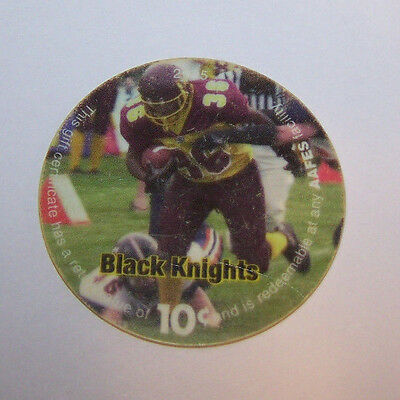 6J10 The Black Knight 10 Cents AAFES Pog Fne Condtion