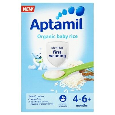Aptamil Organic Baby Rice 100 Grams 4-6Mth+