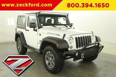 2015 Jeep Wrangler Rubicon 4x4 3.6L V6 Automatic 4WD LED Lightbar Tow Package Cruise Aluminum Wheels Off Road