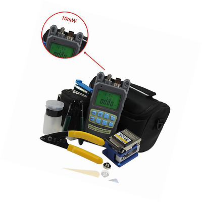 Zoostliss 8 In 1 Fiber Optic FTTH Tool Kit with FC-6S Fiber Cleaver and 2 in 1 O