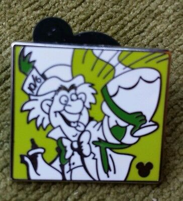 Disney's 2011 Mad Hatter Comics Collection Cast Lanyard Hidden Mickey Pin