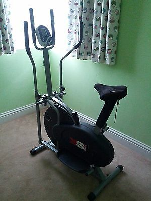 Pro XS Sports 2 in1 Elliptical Cross Trainer Exercise Bike Fitness Cardio
