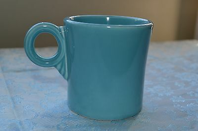 Vintage Old  FIESTA WARE Tom and Jerry mug Turquoise HLC Homer Laughlin Marked