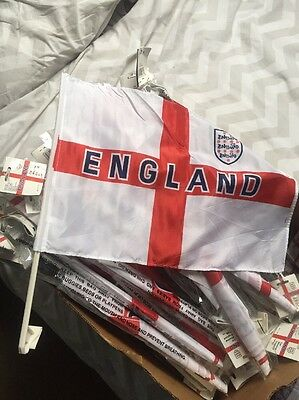 50 England car flags