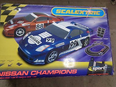 Nissan Champions Scalextric Sport Set Advanced Track System Tested Working