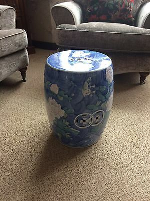 Chinese Blue And White Porcelain Garden Stool/ Seat.