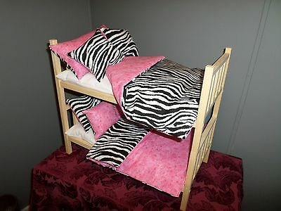 Stacked Zebra Doll Bunk Bed Fits 18 Doll 60 00 Picclick