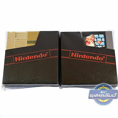 10 NES Re-Sealable Game Protector Sleeves/Wraps 4 Cart & Dust Cover Nintendo NEW