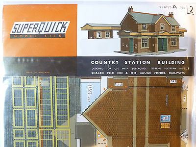 Superquick A Series Kit A2 Country Station Building 00 Scale Model Railways NEW