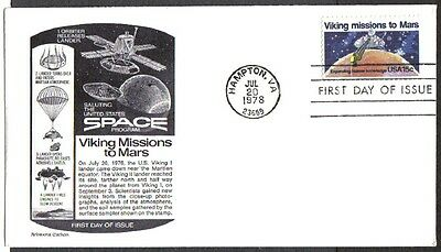 Us Fdc 1978 Viking Missions To Mars 15C Aristocrat First Day Of Issue Cover