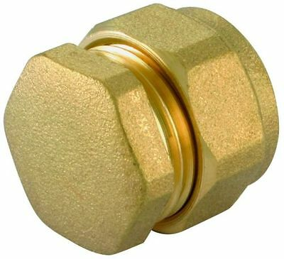 Compression Stop End Brass Copper Plastic Pipe Fitting Gas LPG Oil 8mm 15mm 22mm