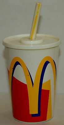 Vintage McDonalds Toy Soft Drink Cup with Sounds Straw Battery Operated