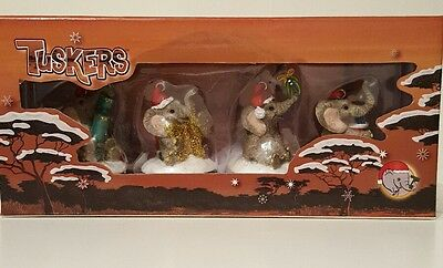 Tuskers elephant collectables Christmas hanging ornaments