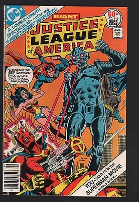 Justice League of America #146 VF+ 8.5 Off White Pages