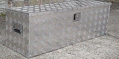 Extra Large Aluminium Chequer Plate Tool Box Storage Chest for Van Truck Lorry
